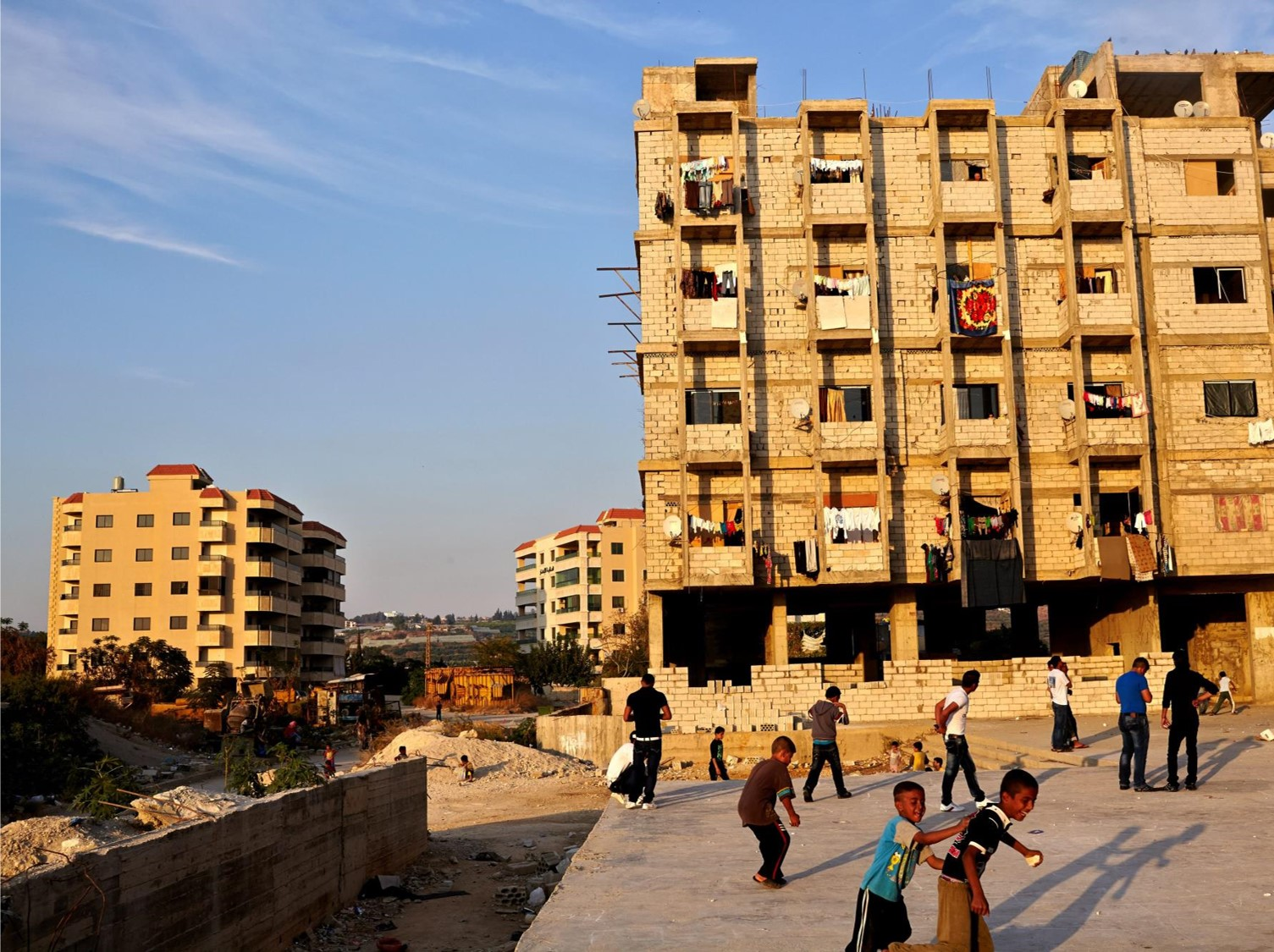 Urban displaced in Syria, occupying unfinished apartments blocks