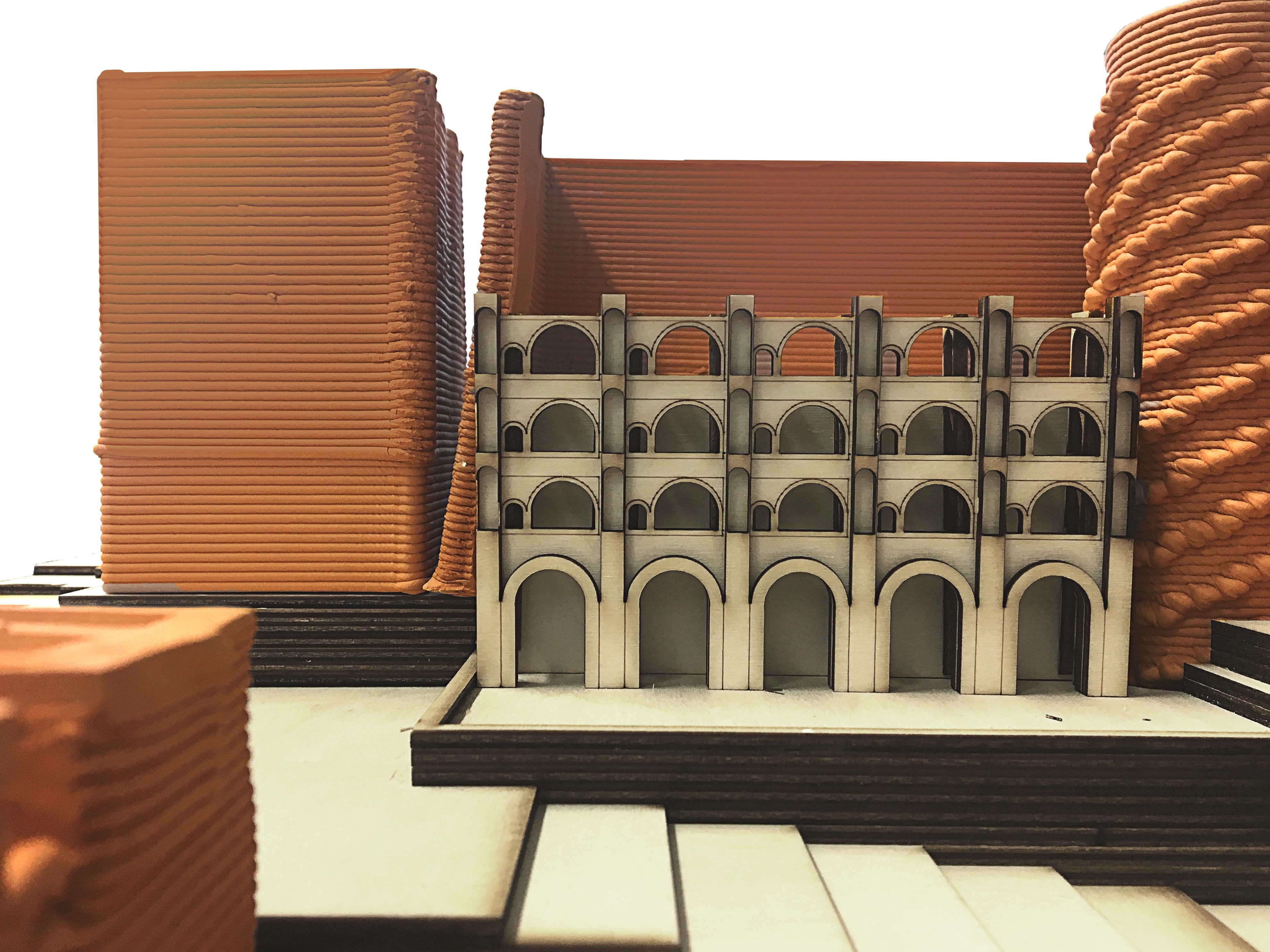 Ceramic Model Courtyard View   1:200