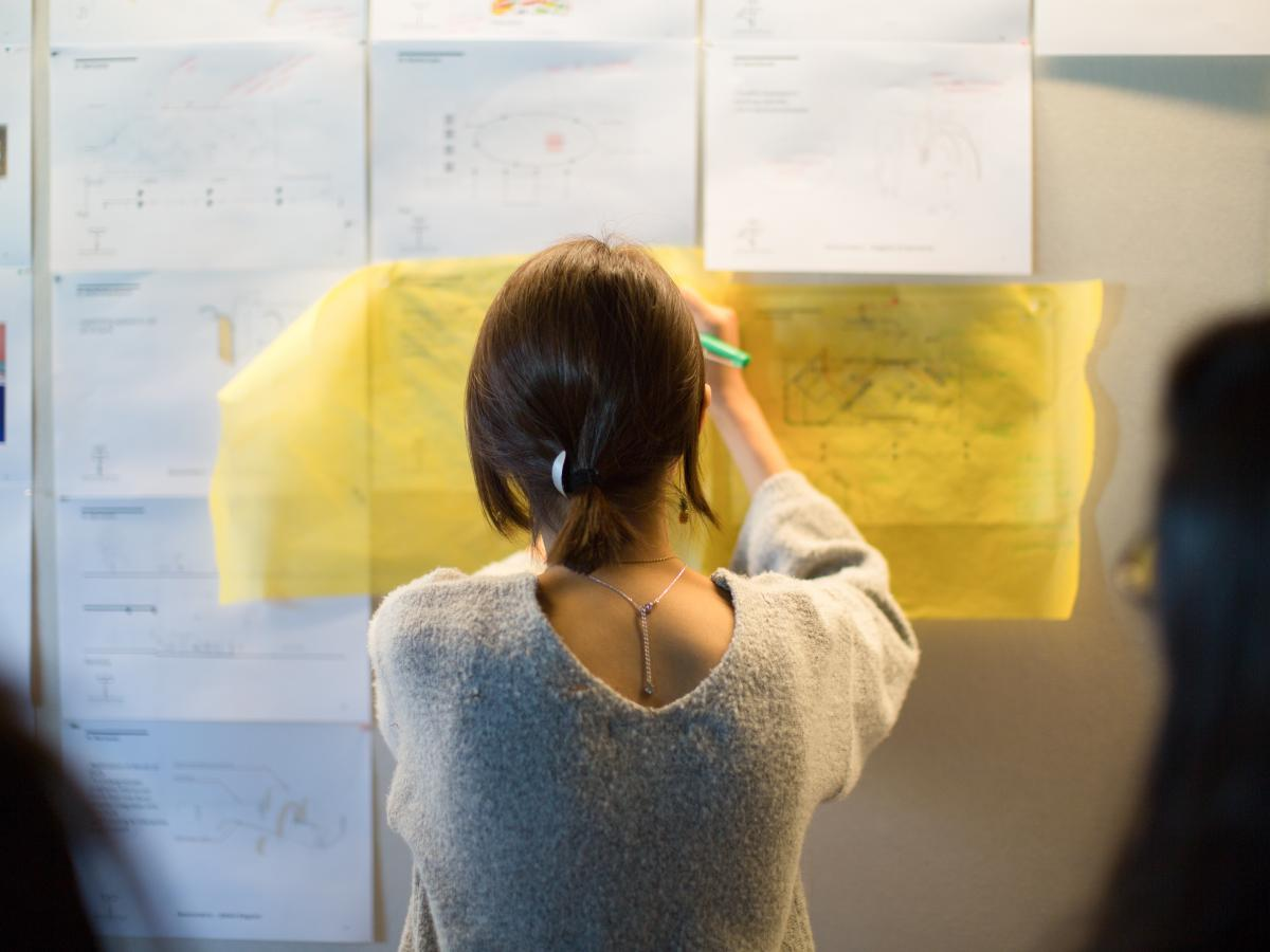 UNSW Architecture student drawing plans