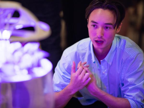 UNSW Industrial Design student at Luminocity exhibition