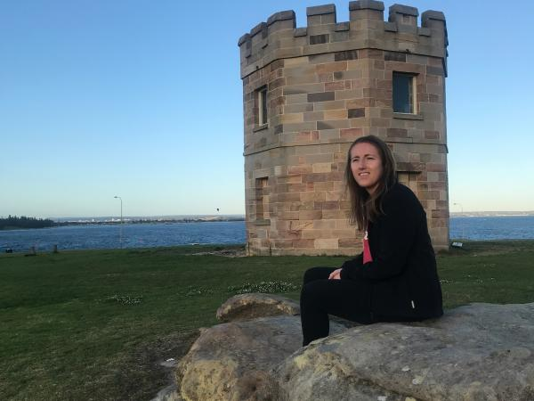 Donna Helm at La Perouse