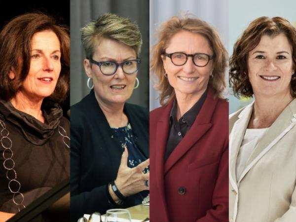 Professor Helen Lochhead, Professor Louise Chappell, Professor Robyn Norton, and Associate Professor Tracey O'Brien