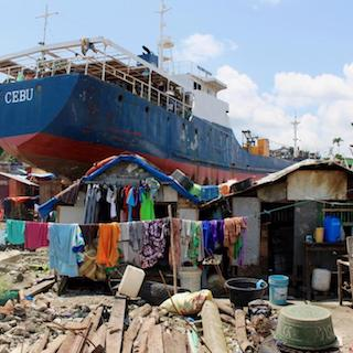 Tacloban, Philippines after 2013's Typhoon Haiyan. Photo: David Sanderson
