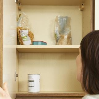 bare food cupboard