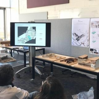 Students discuss the Redfern project