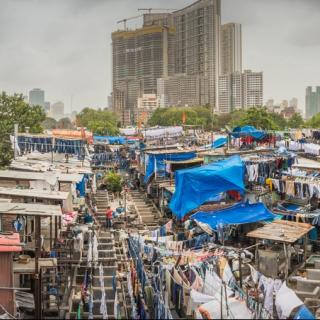 Slum on the edge of a city